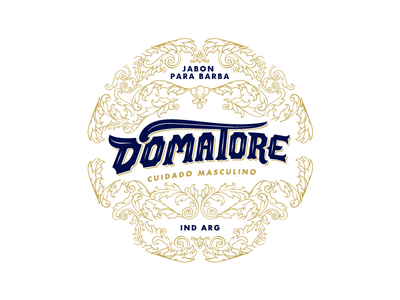Domatore marca branding brand logo tipografia typography handmade golden stamp retro vintage ornaments