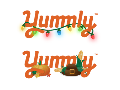 Doodles for Yummly brand thematic logo doodle