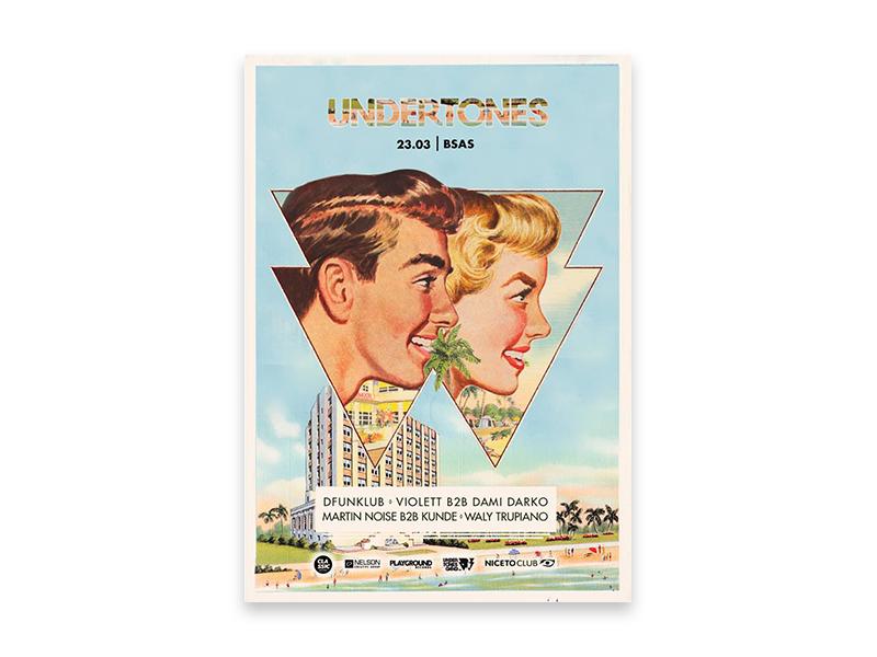 Undertones Flyer vintage retro poster diseño design flyer collage