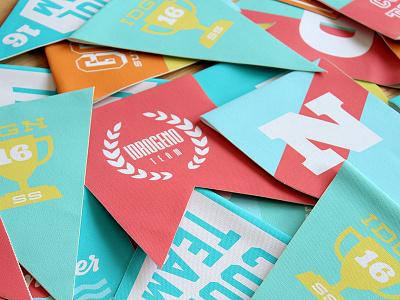 Idrogeno Jeans SS16 flat design diseño verano summer flags colors colorfull banderines pennants