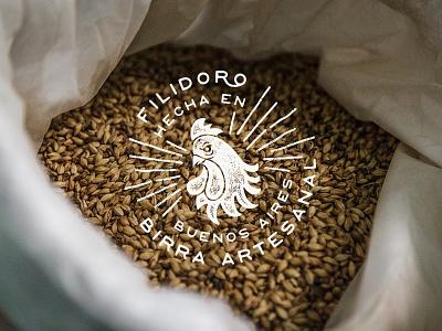 Filidoro - Craft Beer branding rooster cock logo marca brand cerveza beer