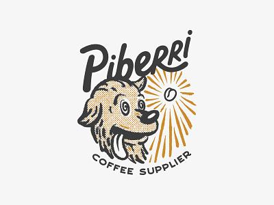 Piberri - Coffee Supplier branding brand marca logo coffee lettering handmade illustration