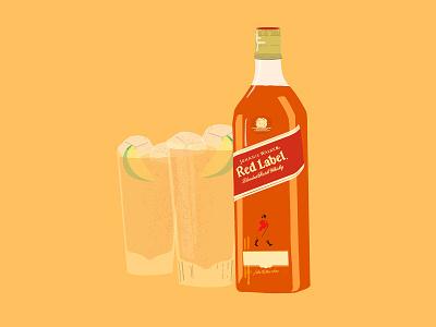 Johnnie & Lemon handmade johnnie walker vector illustration procreate illustration jw