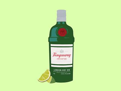 Gin & Tonic vector illustration procreate handmade illustration gin