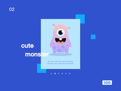 Cute Monster2 illustration ui