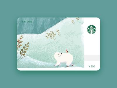 Starbucks card illustration