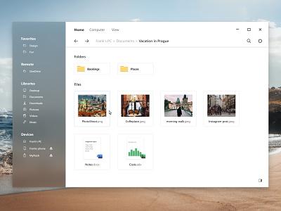 Microsoft Fluent Explorer redesign concept explorer windows redesign ux figma fluent design fluent microsoft