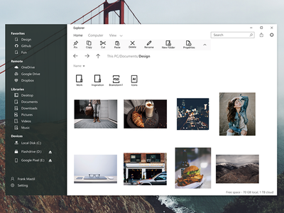 Fluent design - Explorer microsoft windows explorer fluent fluent design