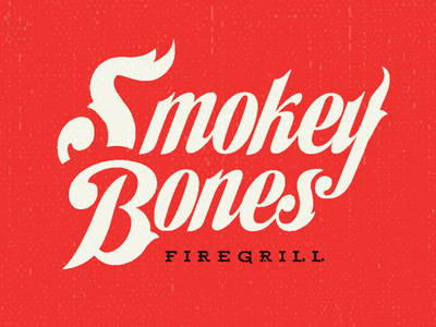 Smokey Bones Logo Reject restaurant branding restaurant logo restaurant bbq beer midcentury branding art logo script handlettering typography retro lettering