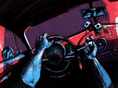 Impatient Illustration hot rod wip sketch comic illustrator fast illustration poster car ford hotrod