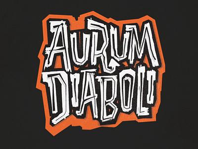 AurumDiaboli GirlFlameBall copy design logo midcentury identity branding vintage handlettering typography lettering