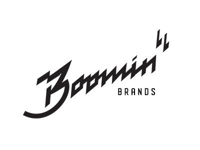 Boomin branding design script retro logo illustration handlettering typography lettering