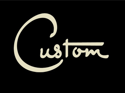 Custom kustom vintage retro script typography lettering custom