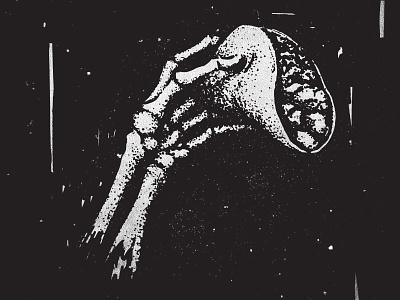 Skeletaco marker pen and ink stipple mexican doodle art skeleton sketch dia de los muertos tacos illustration