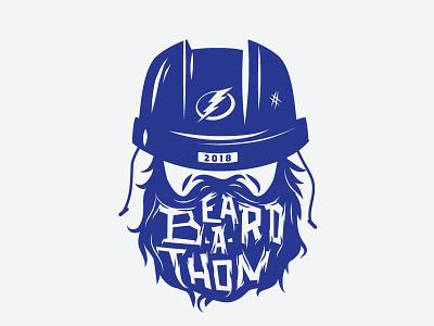 Lightning Beard-A-Thon hockey illustration sports identity logo lettering typography beard-a-thon beardathon playoffs nhl tampa bay lightning