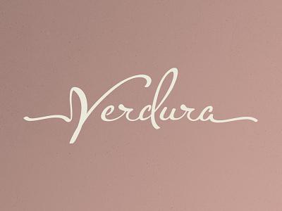 Verdura Logo branding typography identity logo handlettering lettering script