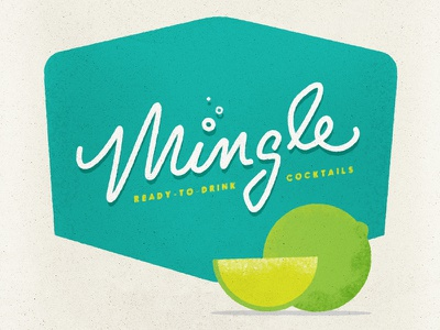MIngle Lettering and Label script retro typography lettering logo cocktails tiki midcentury handlettering identity