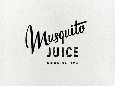 Musquito Juice midcentury vintage handlettering script beer branding retro typography lettering