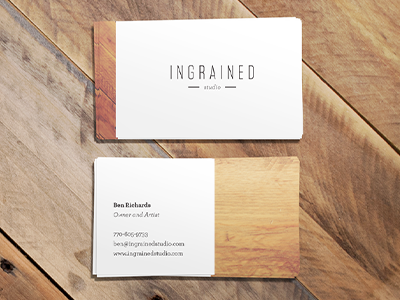 Ingrained Studio Biz Cards biz cards business card wood grain