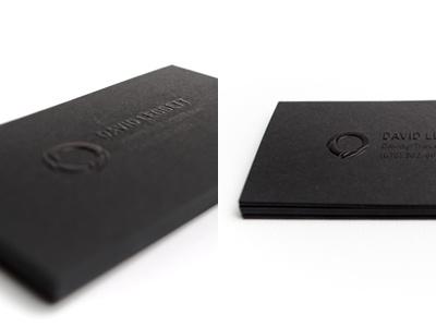Biz Card business card print raised ink personal leggett