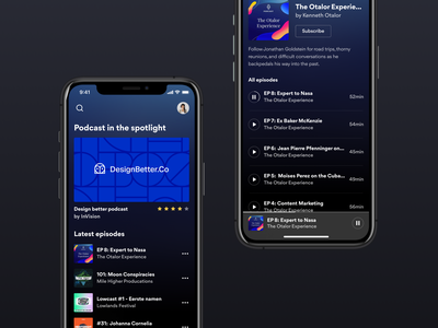 Podcast App - Concept subscribe music art player music player music spotify app podcast