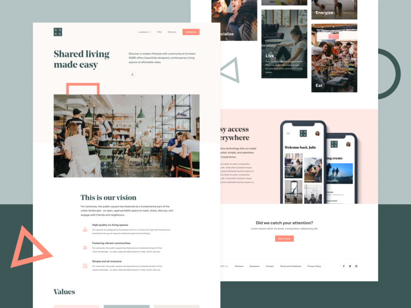 SQRE Living - Homepage