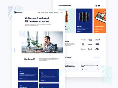 Webdesign Tilburg - Homepage services ui portfolio webdesign full service development landing homepage agency