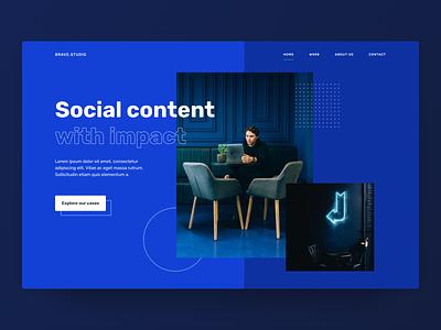 Hero Experiments - Digital Studio 🖥 ui webdesign marketing socialmedia social concept header agency digital studio hero