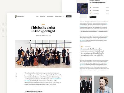 NativeDSD - Blog Detail audio premium blog detail classical music music platform design news article blog website