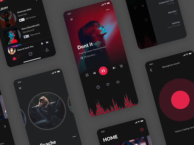 Music App album cover art music mobile app ui ux design