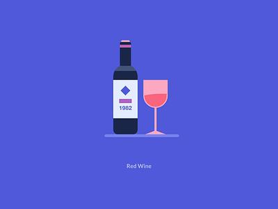 Illustrator For Red Wine motion design cup glass water red wine illustration animation