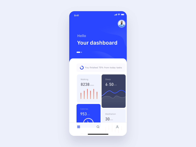 Mobile Health App Animation chart map fit wellness healthy data ui ux animation