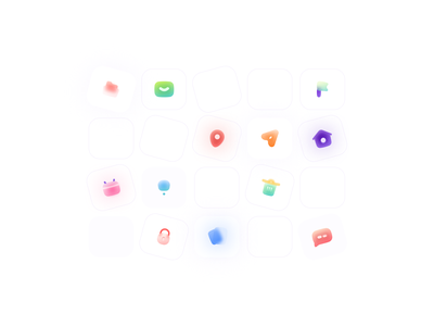 ICONS ❤️ In 3 Style new icons icons set icons design iconography icons pack icon set icon design blur icons trendicons icons icon