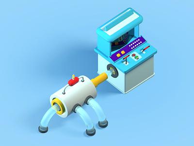 Tiny Machine blender3d blender 3d art cinema4d 3d designer 3d design c4d 3d animation 3d artist 3d