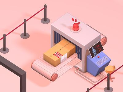 Human Detector Machine delivery illustration deliver 3d designer blender cinema4d c4d 3d design 3dillustration 3d art 3d