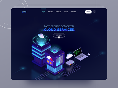 Cloud Services cloud isometric dark ui 3dui hosting ui cloud hosting hosting cloud service trend ui 3d in ui 3d art uidesign lowpoly 3d uiux ux c4d userinterface uiuxdesign ui