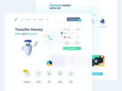 Transfer Money Landing Page 💸 gift card coin money transfer money finance landingpage financial fintech uxui illustration adobexd uiux uidesign uiuxdesign userinterface ui