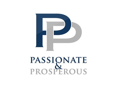 Passionate Properous Logo simple creative p letter passionate