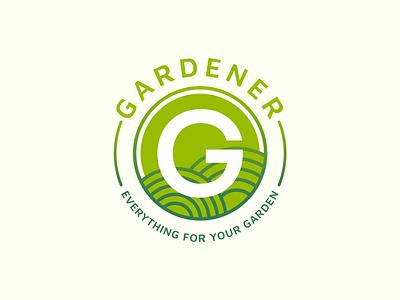 Gardener - Everything for your garden! symbol branding garden clean green logo