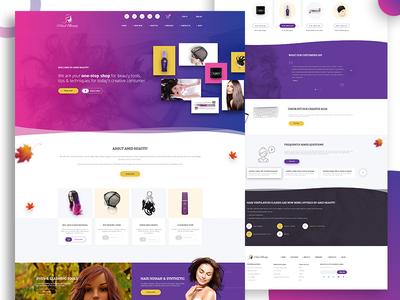 Landing page - Beauty website