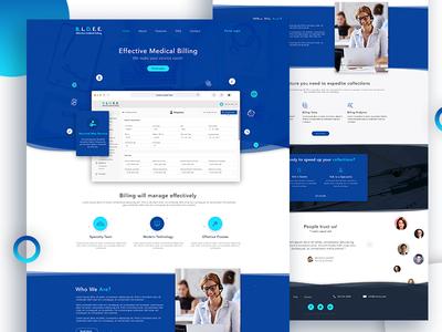 Landing page - Medical Application