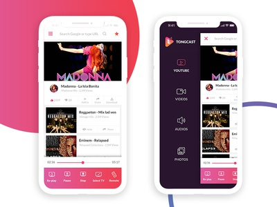 Tongcast-app screen