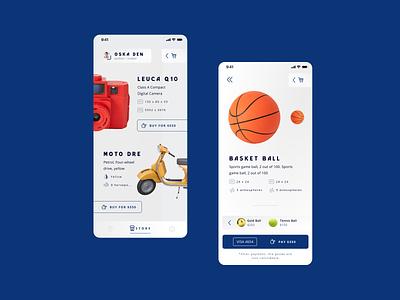 Concept Mobile Store design app ui