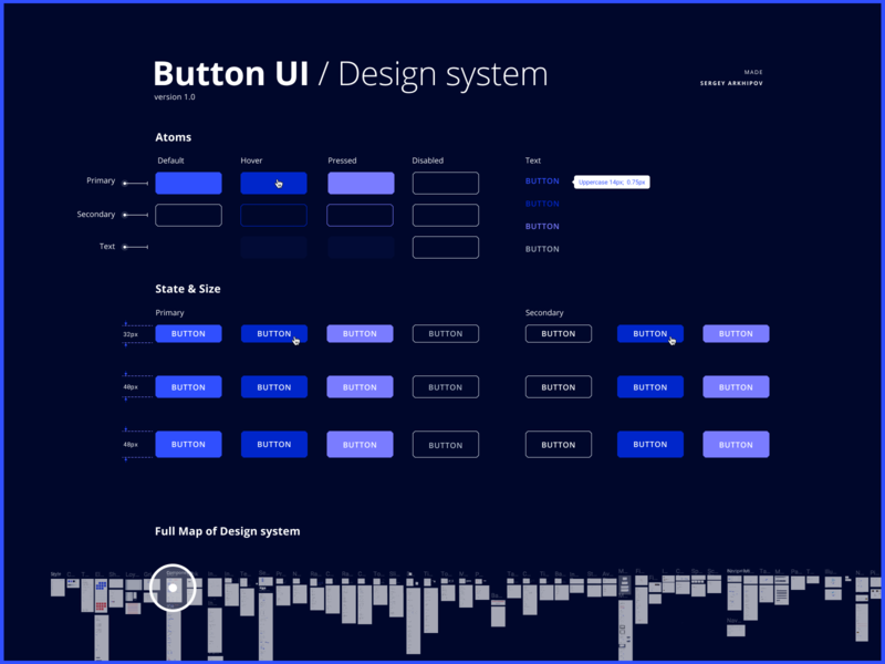 FREE) Button UI / Design System by Sergey Arkhipov on Dribbble