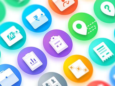 Kaizala Action Icons ux studio91 palette microsoft kaizala icons app actions