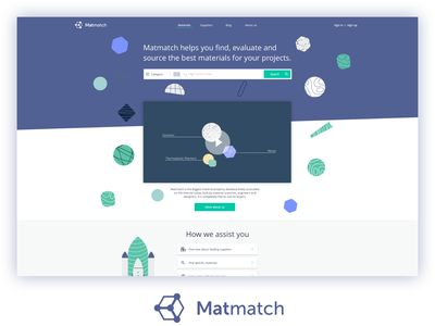 Matmatch Start Page Concept web design branding ui