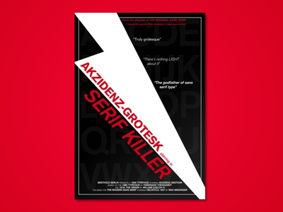 Serif Killer movie design typography type specimen horror serif killer type poster