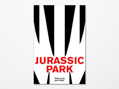 Jurassic Park Poster Redesign minimal poster movie jurassic park redesign