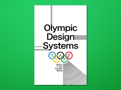 Olympic Design Systems design design systems ixdbelfast olympics exhibition poster