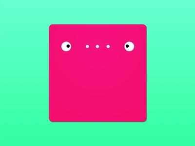 Little Monster circles revision design icon monster